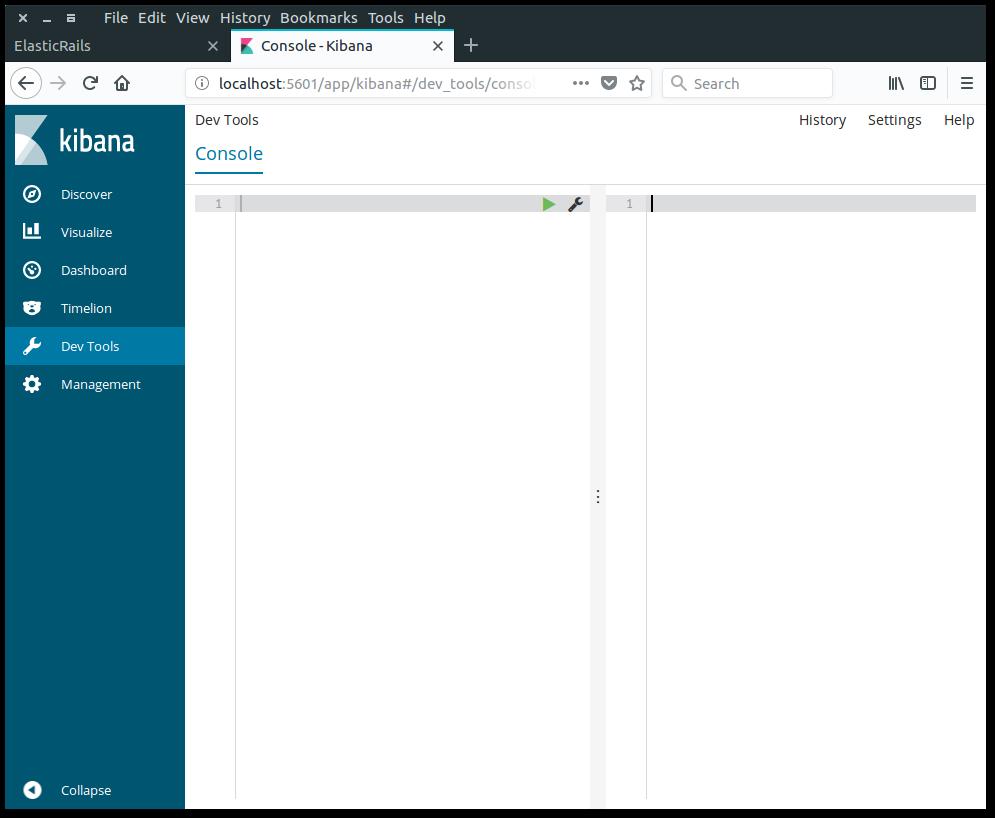 Kibana Dev tools