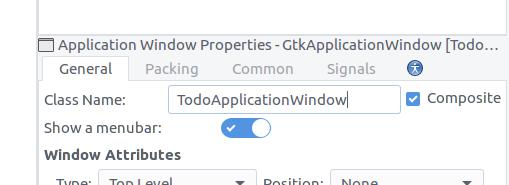 Glade application window composite